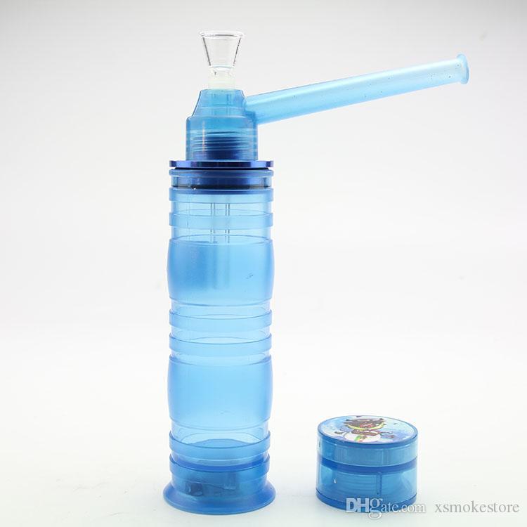 TOPPUFF akrilik Bongs Vidalı Su Boruları En puf Cam Shisha Herb G ve LED'li Aksesuar Tütün Herb Tutucu Taşınabilir Nargile Sigara