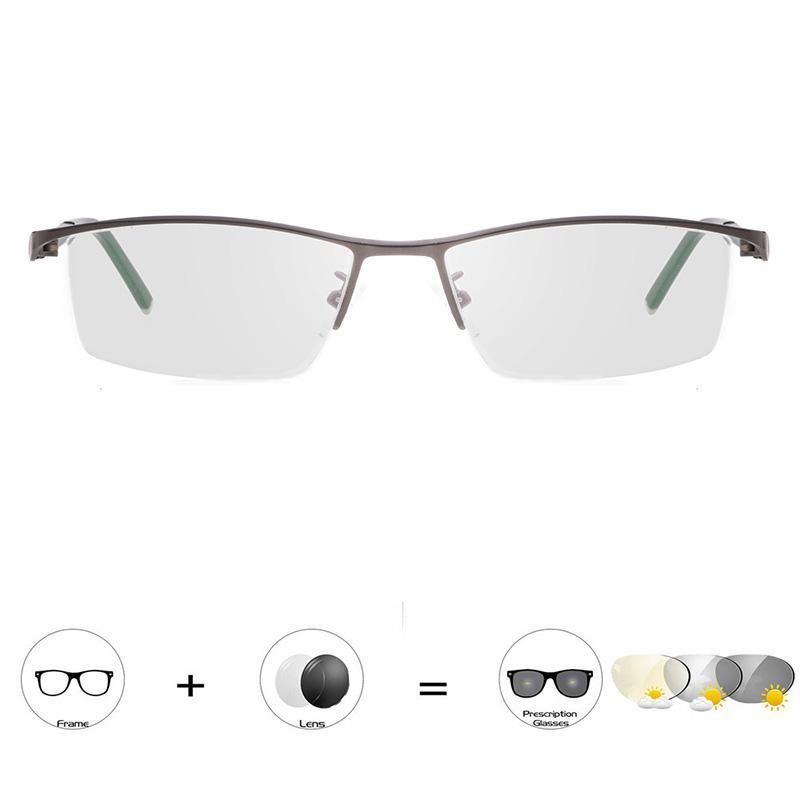 Ultraleve Photochromic Progressivo Óculos de Leitura Óculos De Sol Para Os Homens de Negócios Descoloração Óculos Presbiopia Eyewear