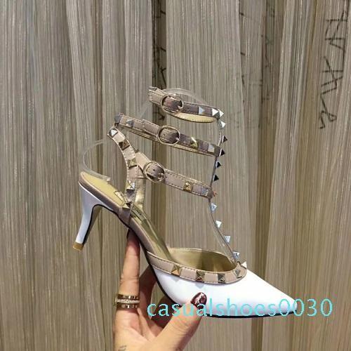 Designer sandals strap heel dress sandals Suedue patent Flip Flops leather shoes luxury sandals with box size 35-41 women slippers c30