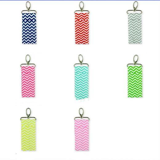 Chapstick Çanta Dudak Anahtarlık Pamuk Ruj Tutucu Klasik Sundries Kozmetik Saklama Poşetleri Parti Favor 18 Toptan YW3040 Tasarımları