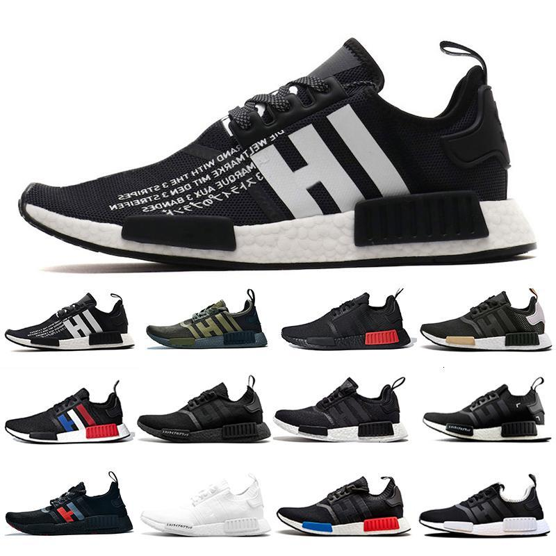 Tonnerre NMD R1 Hommes Chaussures de course Atmos vert militaire Oreo Bred Tricolore OG Classique Hommes Femmes Sport Chaussures de sport Entraîneur mastermind