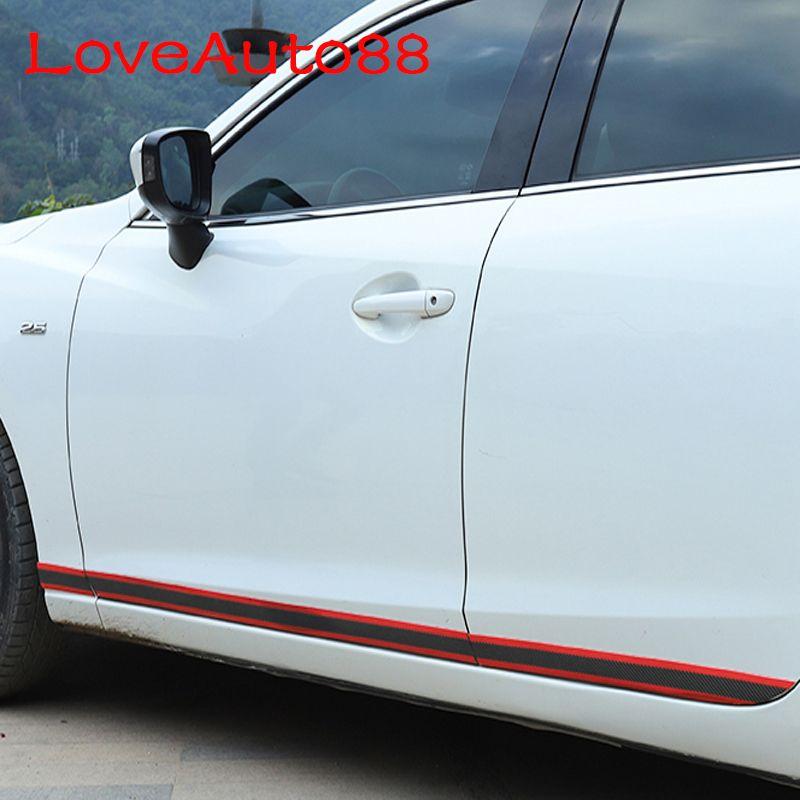 for Kia Seltos Door Sill Protector Carbon Fiber Sticker Door Entry Guard Door Sill Scuff Plate Stickers Auto Accessories 4 Pieces