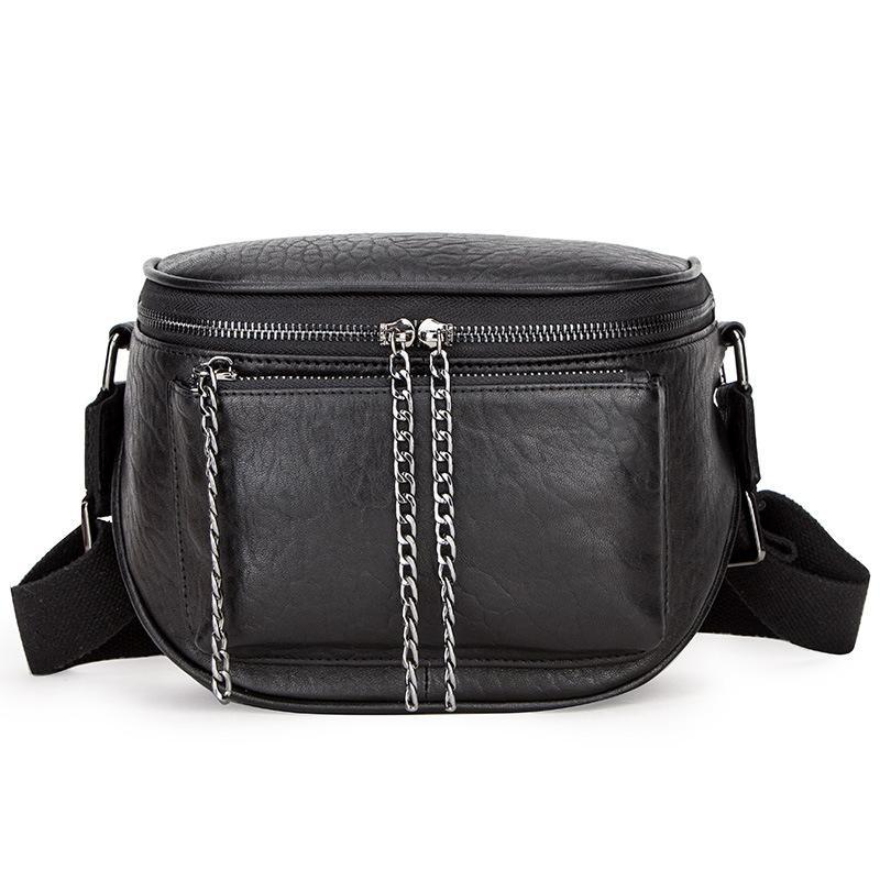 حقيبة يد الموضة متعددة الوظائف سيدة جلد سحر حقيبة الكتف البني