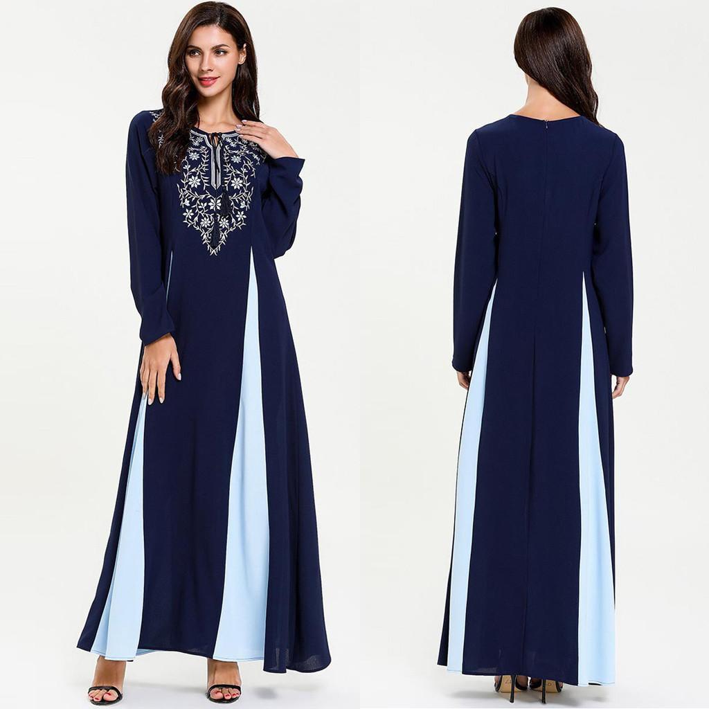 Acheter Longues Femmes Robe Musulmane Nationale Robe Abaya Des Femmes Habillees Islamique Musulmane Du Moyen Orient Dubai Caftan Marocain G8 De 33 69 Du Cailey Dhgate Com