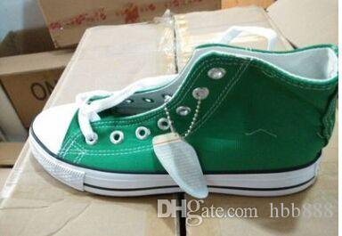 Drop shipping Nuove scarpe da uomo in tela da uomo alte unisex alte 11 colori Scarpe casual allacciate Scarpe da ginnastica