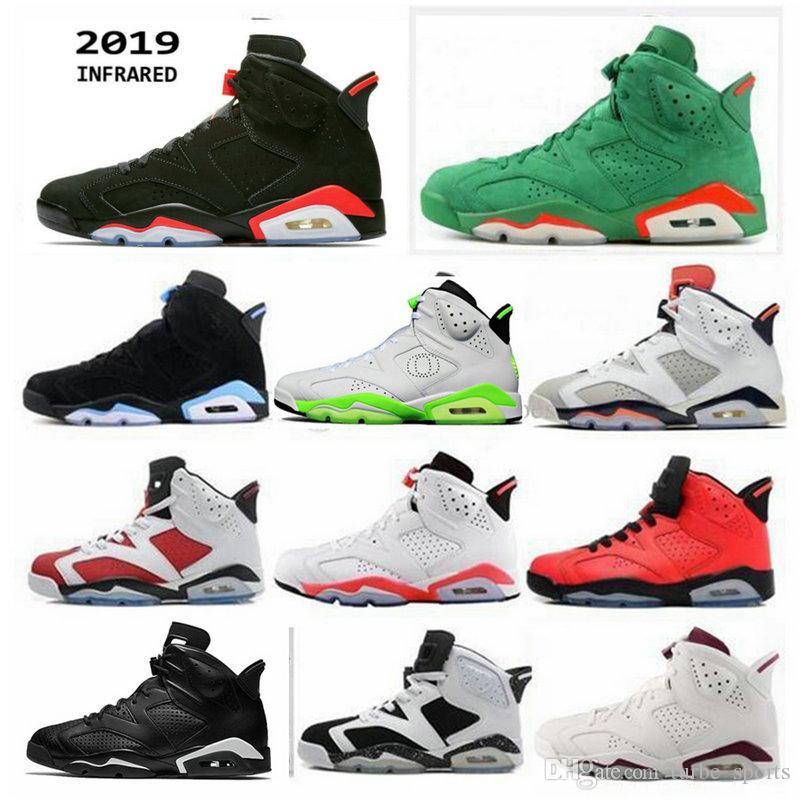 2019 New Version Black Infrared 6 6 초 3 메터 반사 카마 인 JSP Silver UNC 농구 화 Men 트레이너 Carmine Gatorade Tinker Sneakers