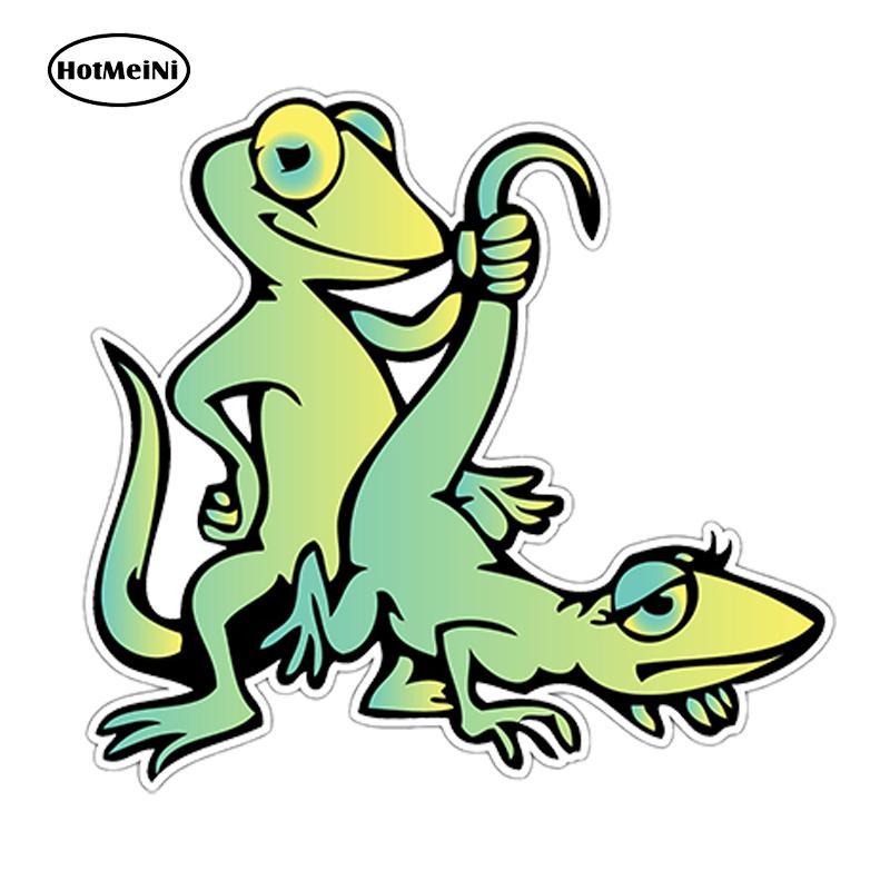 "wholesale 20pcs/lot Gecko Lizard Sex Adult Funny Car Sticker Bumper Window Vinyl Decal Waterproof Car Accessories JDM 4""X5"""
