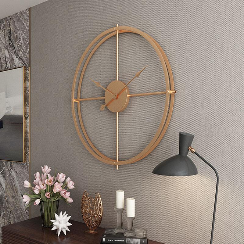 2019 3d bref style européen silencieux Horloge murale Montre Design moderne pour horloges suspendues Home Office mural décoratif Décoration d'intérieur