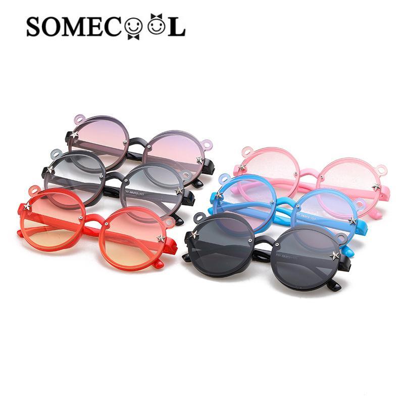 добрее zonnebril 2020 Прекрасный медведь Ушные Boysgirls Симпатичные очки Stage Party ВС очки Модель Показать Прохладный UV400 Eyewear н