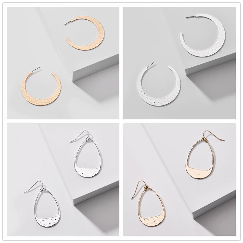 Bagattella Designer geometrica C Waterdrop orecchini forma del telaio per le donne dei monili del partito di moda Incontri regalo orecchini Silver Gold