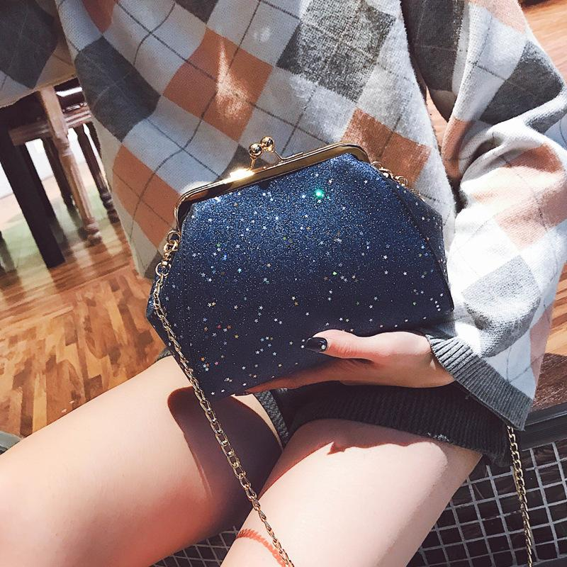 Belle2019 Lady Rui Man Of Quality Small Bag Woman The Tide All-match Messenger Single Shoulder Package Chic Chain Clip Mouth