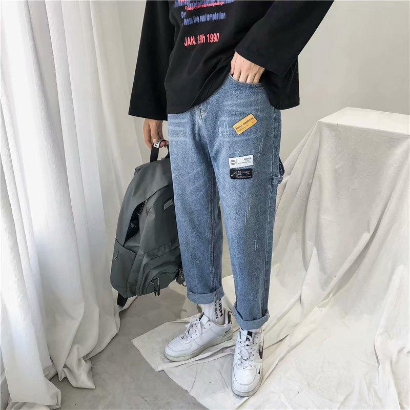 Compre 2020 Nuevos Adolescentes Denim Jeans Para Hombres Pantalones Casuales De Hong Kong Tendencia Del Estilo Coreano Salvajes Sueltos Jeans Rectos Pantalones Anchos De La Pierna A 21 23 Del Meizuang Dhgate Com