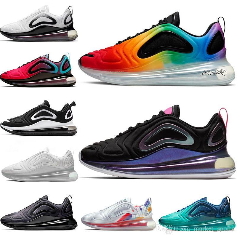 2019 Nike Air Max Airmax 720 Zapatillas De Tenis Be True 72C Black Laser  Fuchsia Zapatillas De Deporte Para Hombre Zapatillas De Running Para Mujer  ...