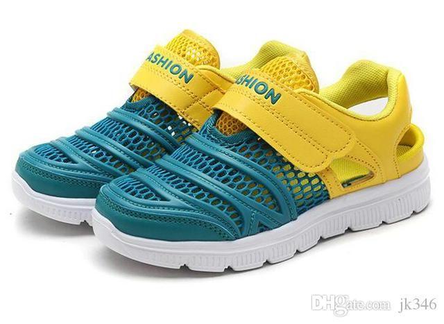 Jeff Sneaker Kinder Blau und Gelb Art und Weise beiläufiger Schuh-bequemes Mesh-Obermaterial geringes Gewicht