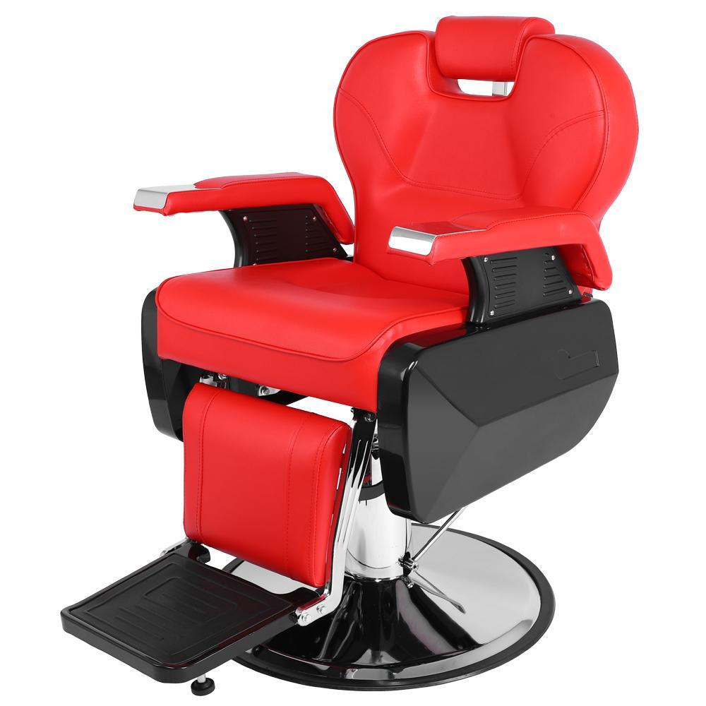 Стул Waco Barber, салонное оборудование Классические кожаные гидравлические волосы паб паб салон красоты спа стиль современного шампуня стулья красный
