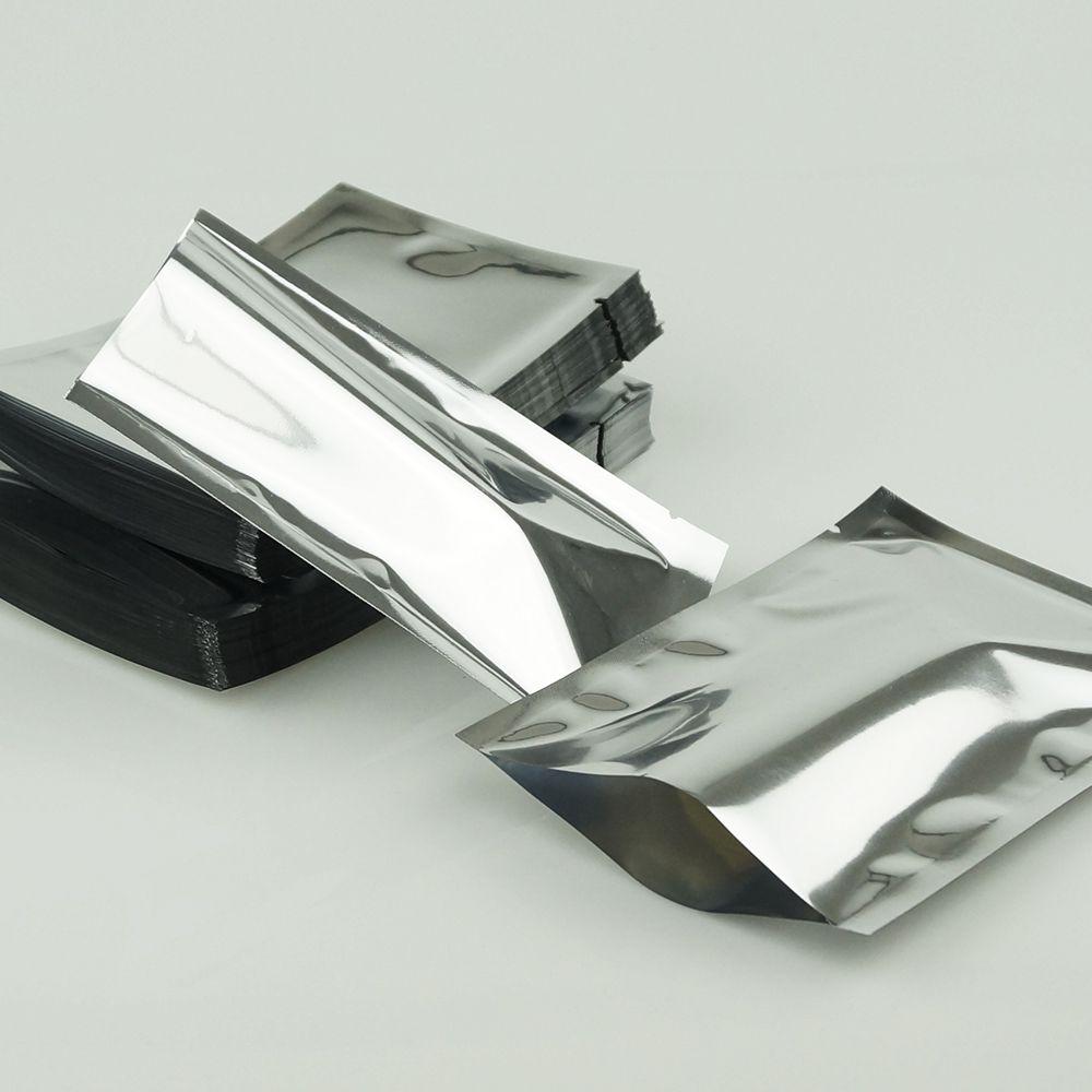 12x18cm einfache Tasche, 100pieces / lot Aluminiumfolie sackt Heißsiegel ein