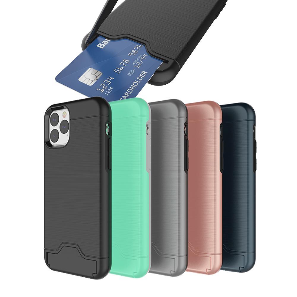 Caso ranura para tarjeta para Iphone 2019 NUEVO 11 X Pro XR XS MAX 8plus Samsung Nota 10 S10 además Armadura caso de Shell dura de la pata de cabra Caso Con