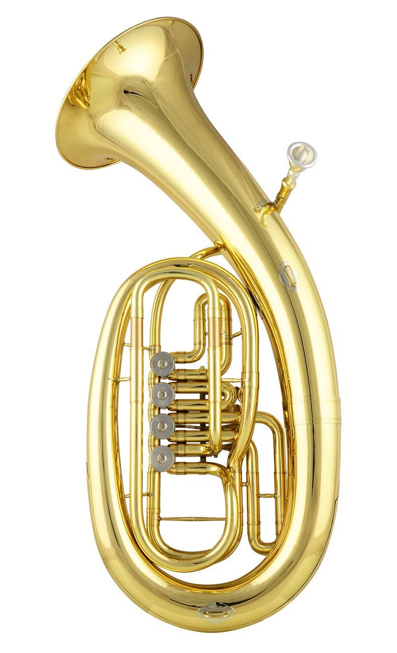 Barítono vestimenta B Flat Instrumento de metal con el caso, Boquilla