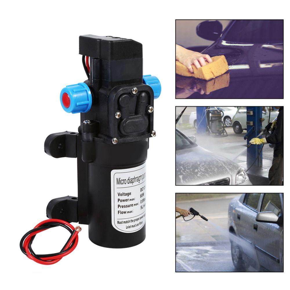 60 Watt DC 12 V Hochdruck-Selbstmembran-Wasserpumpe 115 PSI selbstansaugende Wasserpumpe für Wasserreiniger Druckhalter Caravan Boat