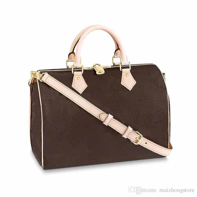 وسادة حقيبة نمط L زهرة نمط Spedy حقيقي جلدي محفظة حقيبة بوسطن أسلوب الكلاسيكية M41112 ختم النساء الساخنة الأزياء مستحضرات تجميل السيدات محفظة