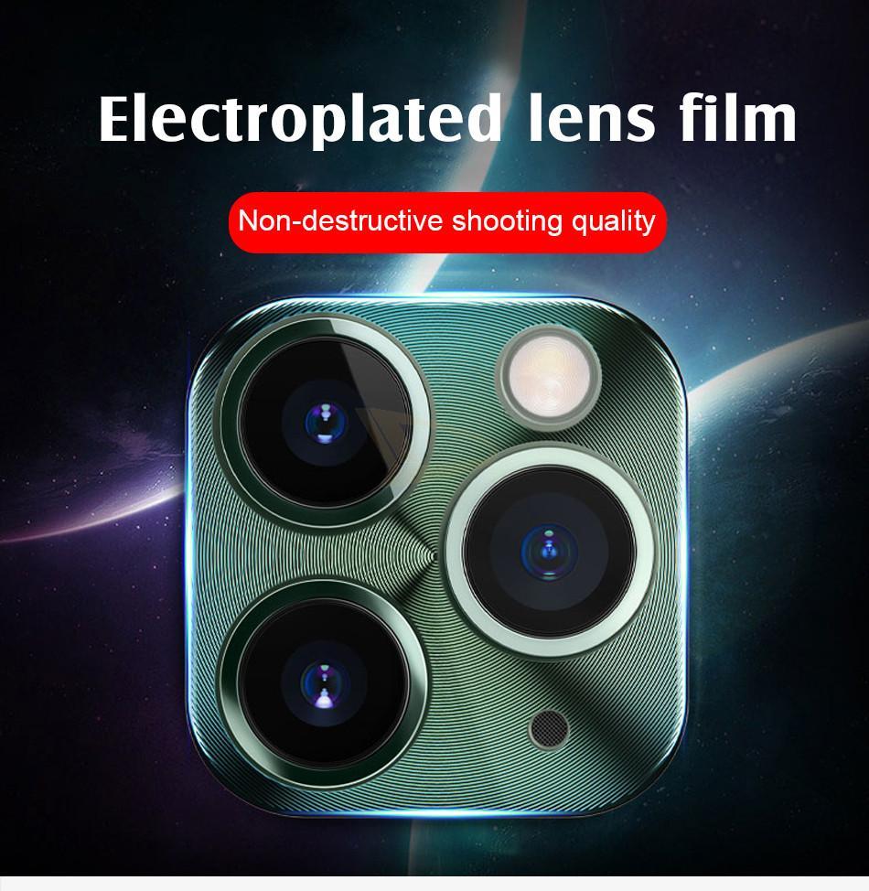 Cell Phone Protections d'écran Objectif de protection Film Six couleurs pour iphone11 Pro max tout compris en alliage de titane