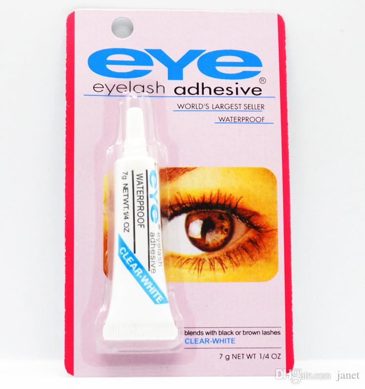 Boa qualidade Adesivo Cílios Postiços Eye Lash Cola Maquiagem Claro Branco Preto À Prova D 'Água Maquiagem Ferramentas 7g