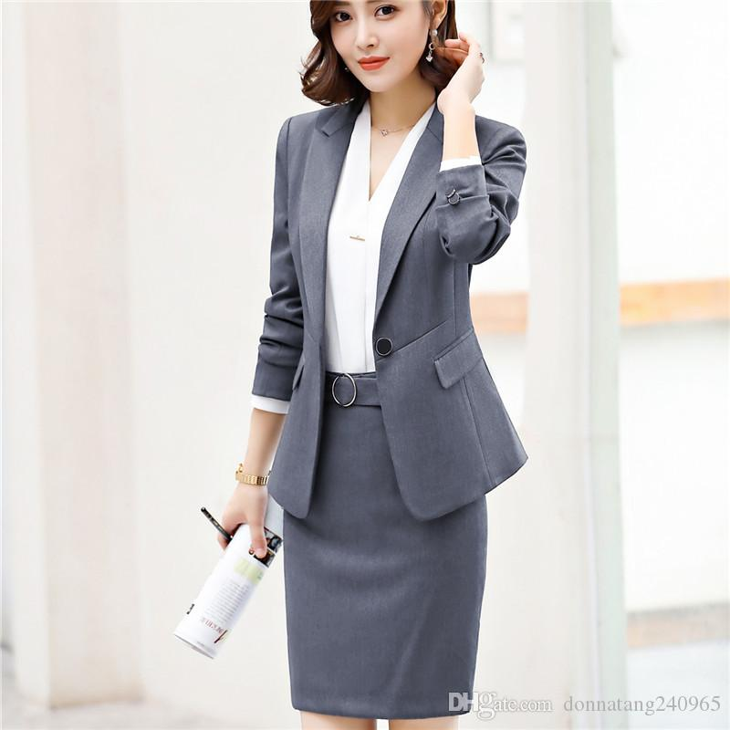 Women skirt suit fashion Sashes elegant Patchwork Long Sleeve black Blazer skirt sets business office ladies work 2pcs set 6020
