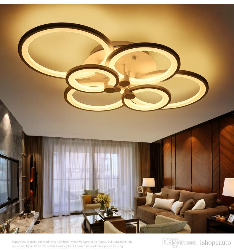 Remote Control Modern LED Ceiling Lights Dimming Living Room Bedroom Led Ceiling Lamp for Hotel Living Room Clothing Store - RNB66