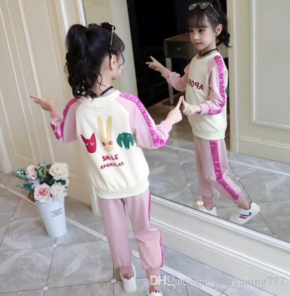 2019 nouveaux vêtements d'automne pour enfants, Sports et Loisirs Deux pièces Vêtements de Girls'Children usine de vente directe