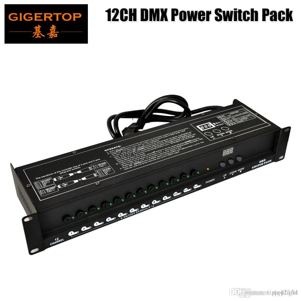 İndirim Fiyatı DMX Kontrol Güç Kaynağı Dağıtıcı Kutusu LED Göstergesi 5A Başına Kanal XLR-D3M Girdi XLR-D3F Out DMX512