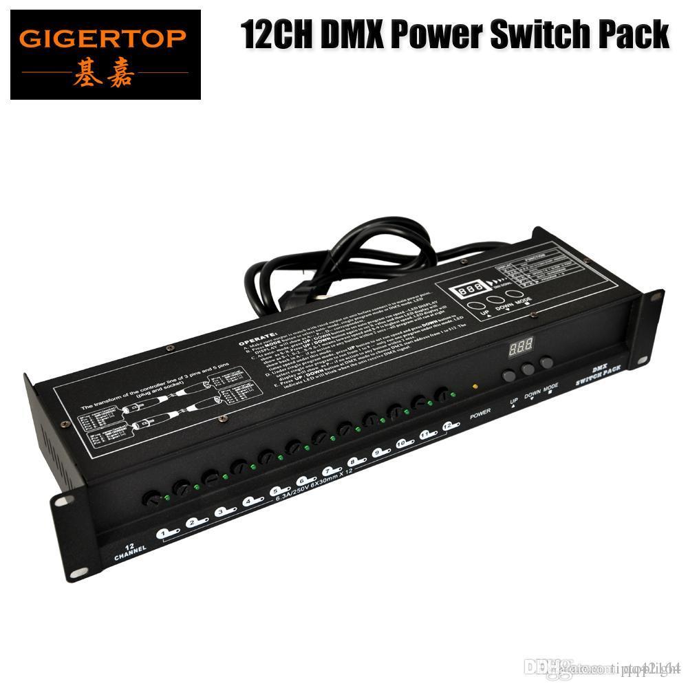 Desconto no preço DMX Poder de Controle de Abastecimento Distribuidor Indicador LED Box 5A por Canal XLR-D3M entrada XLR-D3F Fora DMX512