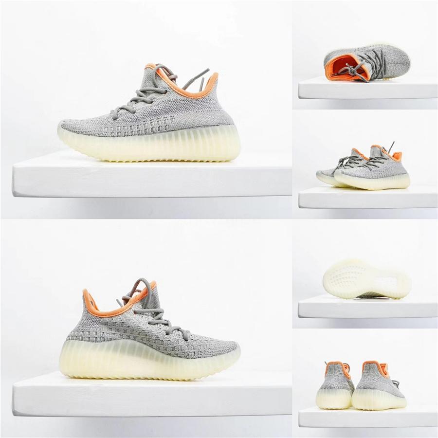 2020 Kanye West Zapatilla Niños Diapositivas Bone Tierra Desierto Arena Marrón Resina Zapatillas zapatos de diseño sandalias de espuma Runner zapatillas de deporte # 316