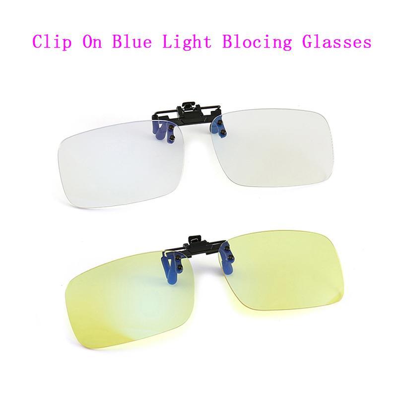 Mercek Gözlükler Miyop Presbiyopi Gece Görüş Bilgisayar Oyun Klipleri On Gözlük Kadın Erkek Karşıtı mavi Ray Klip engelleme Mavi ışık