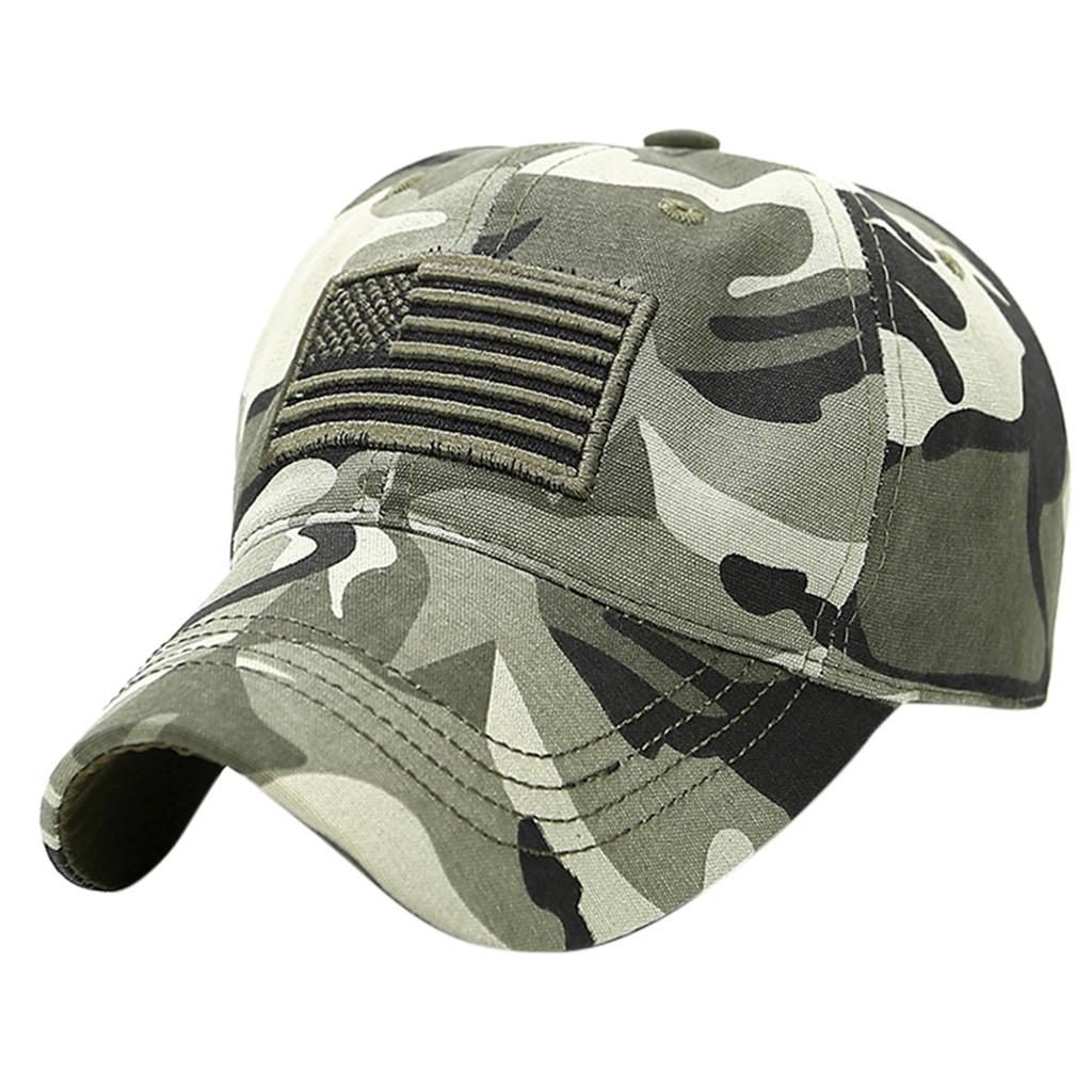 Feitong 2019 Summer New Cotton Mens Hat Unisex Trucker Special Tactical Operator Forces USA Flag Patch Baseball Cap