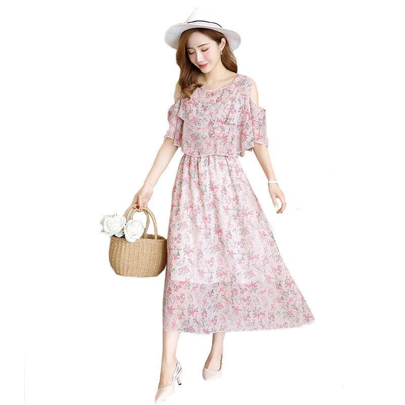 2020 ropa de maternidad Embarazo Verano Nuevo vestido de la gasa floral lactancia materna maternidad Vestidos de Maternidad