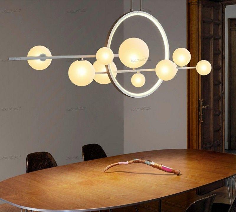 Nueva iluminación de la lámpara LED transparente bola de cristal moderna lámpara de araña de tiempo utilizado en restaurante Nakajima office cafe bar LLFA