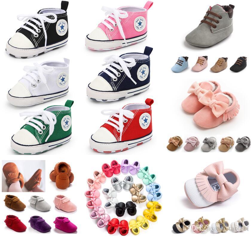 Meninos Meninas Sapatilha bebê Princess Tênis Primeira caminhantes Prewalker Crib Shoes para o infante criança recém-nascida