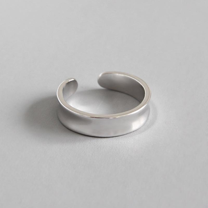 SMALL SIZE Size3.25-size4.5 حقيقية 100٪. J13 925 SILVER المجوهرات الجميلة الاسترليني ميدي تو المفصل الهندسية حزام حزام المرأة