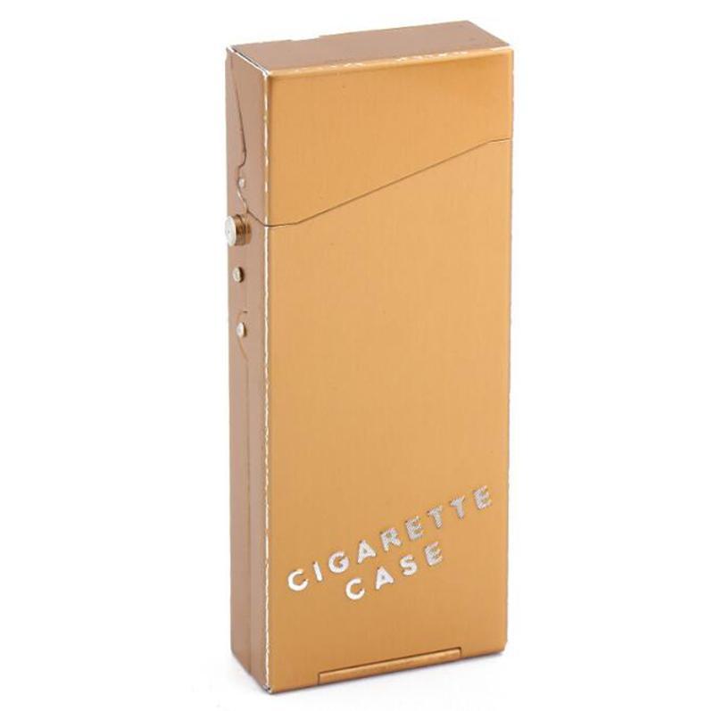 Automatisch Öffnen Sie Bunte Aluminiumlegierung Zigarettenetui Aufbewahrungsbox Schutzgehäuse Shell Tragbar Für Zigarette Rauchen Werkzeug