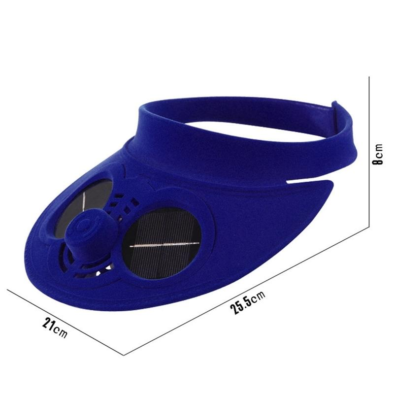 Summer Sport Outdoor Hat Cap With Solar Sun Power Cooling Fan Bicycling Climbing Small Air Conditioning Appliances Solar Fan Hat Jump Ropes