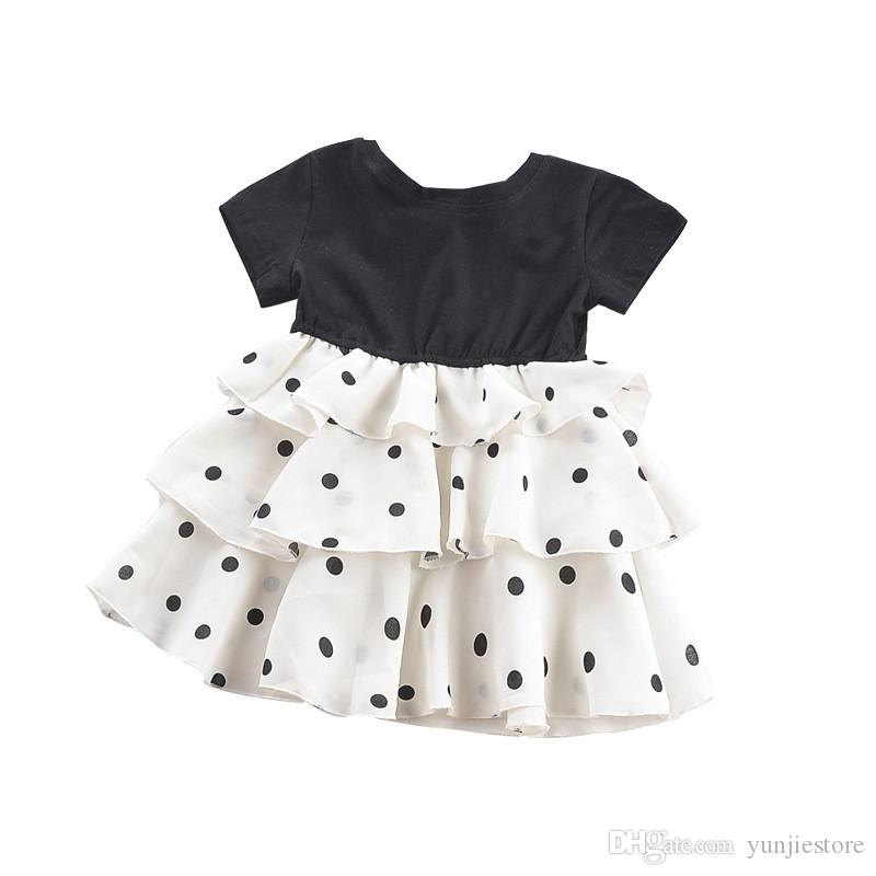 UK Summer Newborn Baby Girl Ruffle Polka Dots Romper Bodysuit Outfit Clothes Set