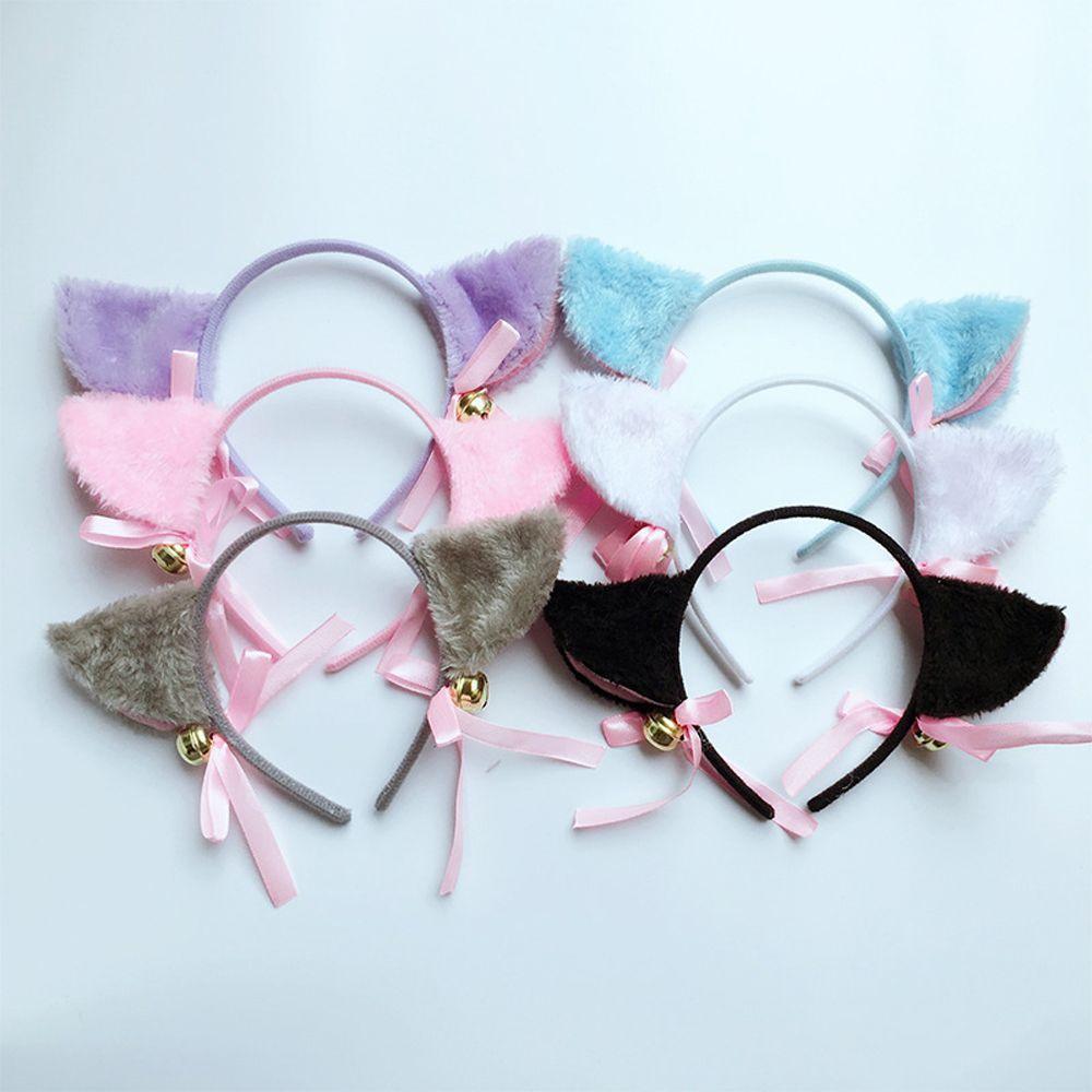 Girl Cat Ear Bell Head Hoop Headdress Lady Headband Clip Hair Bands Deceor 2019