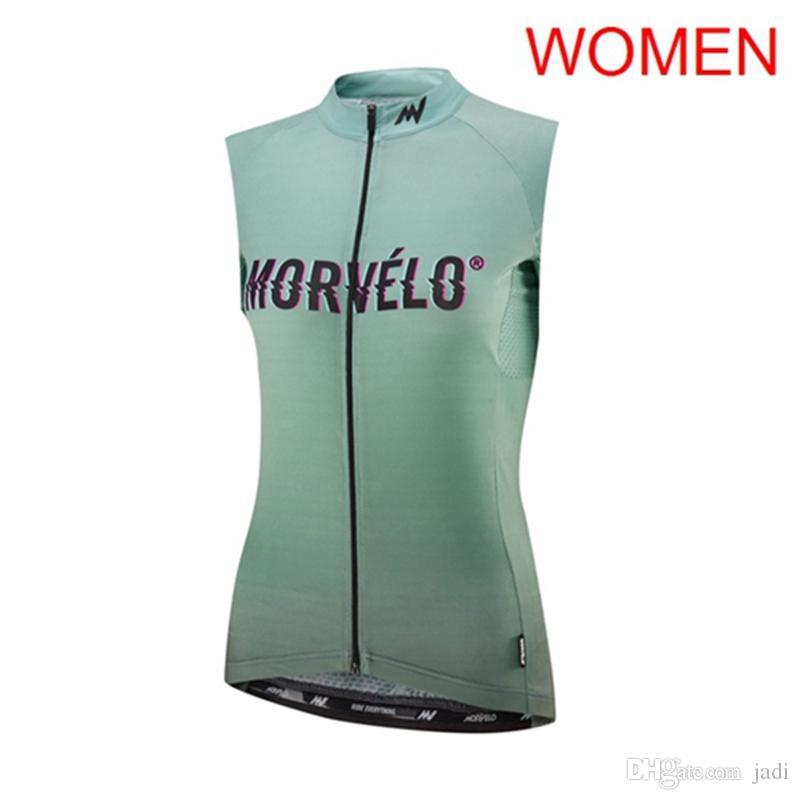 2019 equipa Mulheres Morvelo ao ar livre Ciclismo mangas Jerseys Vest Ropa Ciclismo respirável bicicleta Roupa de bicicleta Sportwear K053017
