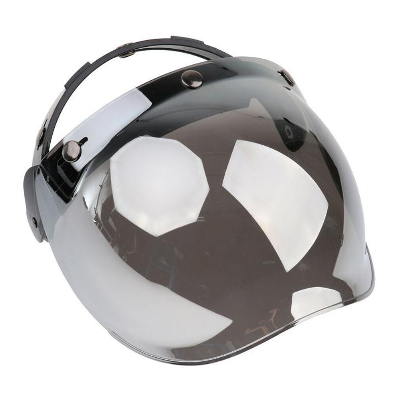 С кронштейном универсальная УФ защита мотоциклетный шлем пузырьковый козырек открытое лобовое стекло флип вверх пылезащитный анти туман 3 Оснастки