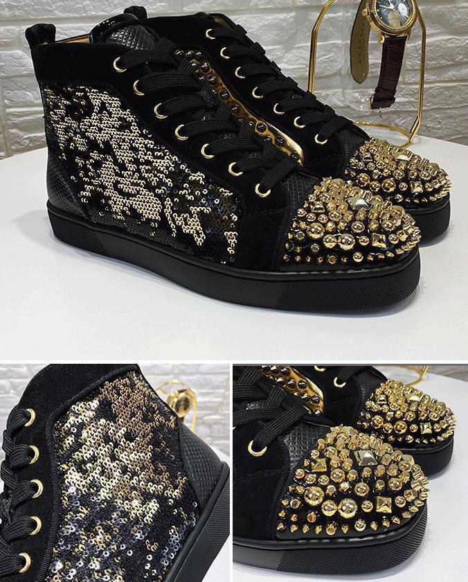 Platform Casual Sneakers Çivili Dikenler Flats ayakkabıları Düğün ayakkabıları D09 üzerinde Tasarımcı Kırmızı Alt loafer'lar Womens Gerçek Deri Kayma