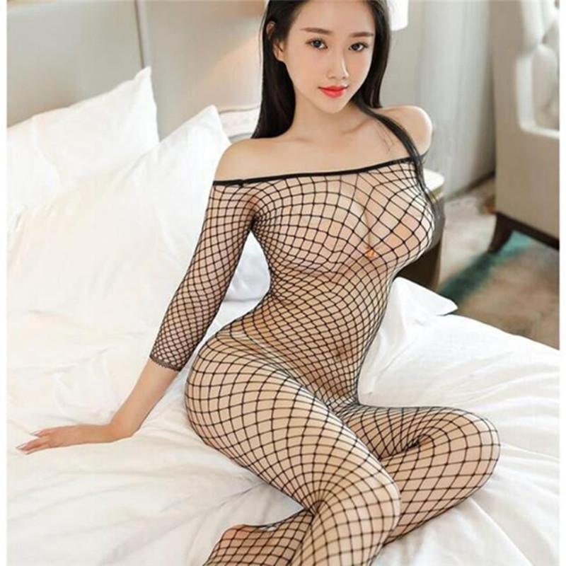Cosplay malha Costumes Sexy Porno Teddy Transparente Erótico Baby Doll Lingerie Mulheres Plus Size Sexo Roupas Underwear