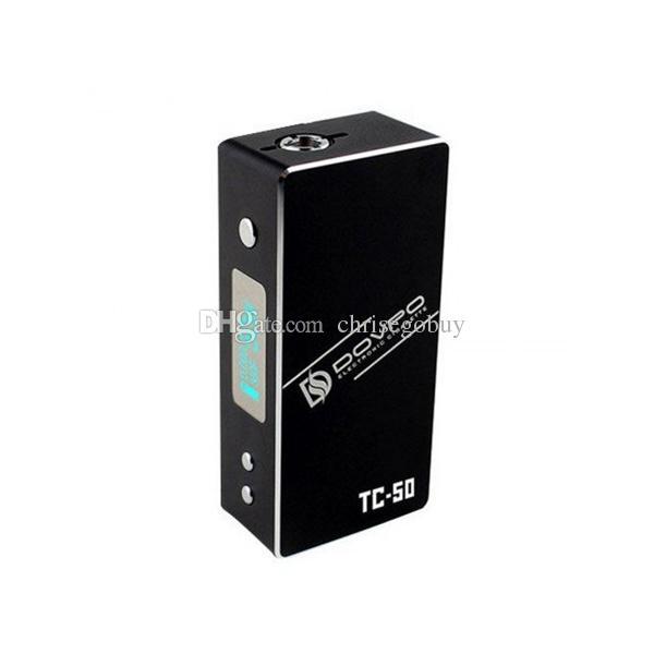 Scatola mod 100% originale Dovpo TC-50 Mod variabile TC50 7-50w Mods VS zelos sigelei 50w vr2 vapore tempesta mini subox nano Stick principe xcube