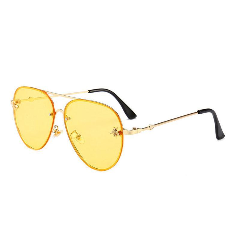 UV400. Concepteur design marque femme lunettes de soleil hommes de marque de marque vintage mode métal de luxe-2019 lunettes de soleil bonnes surdimensionnées mâle femme utcl
