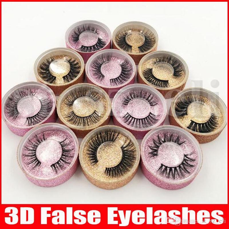 3D Faux Mink Eyelashes False Mink Eyelashes 3D Silk Protein Lashes 100% Handmade Natural Fake Eye Lashes With Gift Box