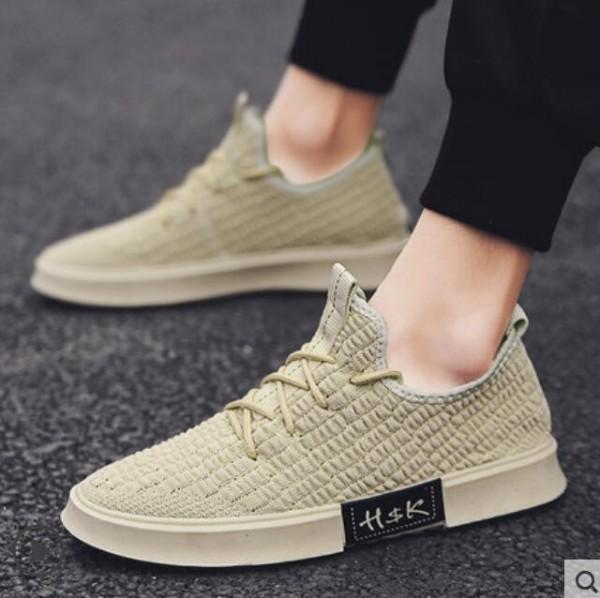 New flying fabric casual shoes, breathable canvas shoes men's fashion shoes, high quality stretch socks for men and women shoes 40W53